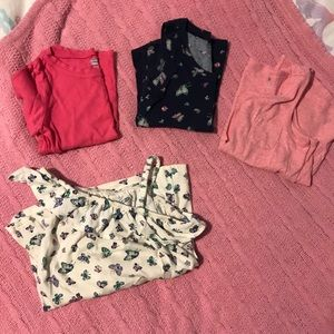 Lot of 4 Old Navy tops (3 tanks and 1 tee) sz 4T